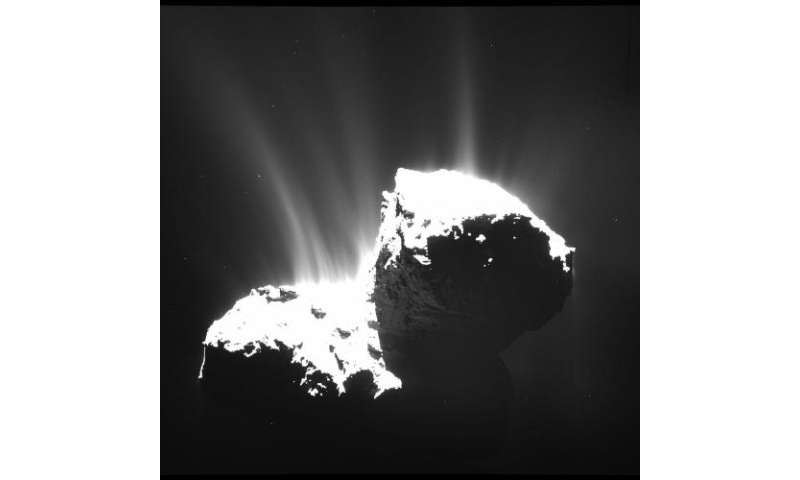 Rosetta data give closest-ever look at a comet