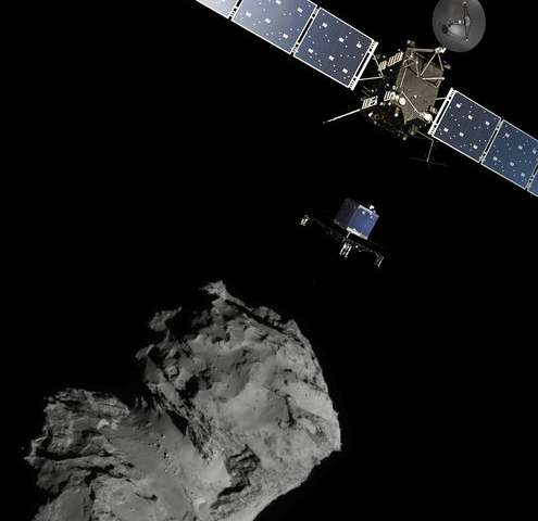 Rosetta tracks debris around comet