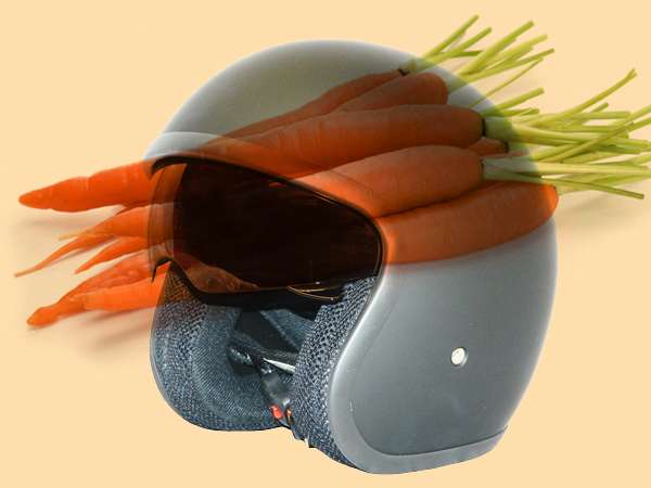Safe motorcycle helmets made of carrot fibers