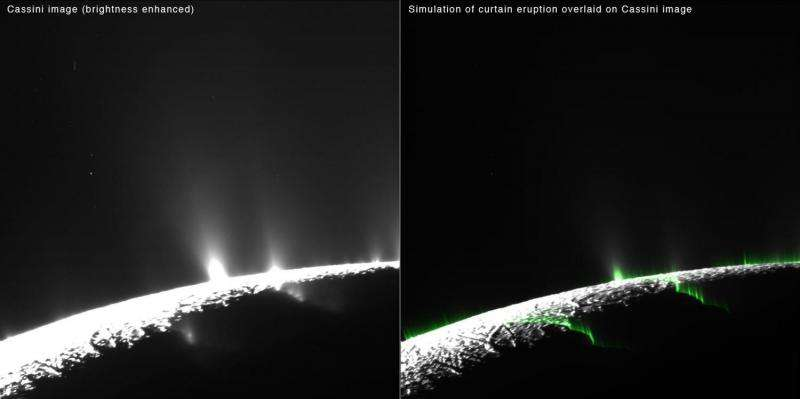 Saturn Moon's Activity Could Be 'Curtain Eruptions'