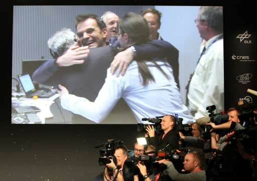 Scientists celebrate in 2014 after Philae becomes the first ever probe to land on a comet