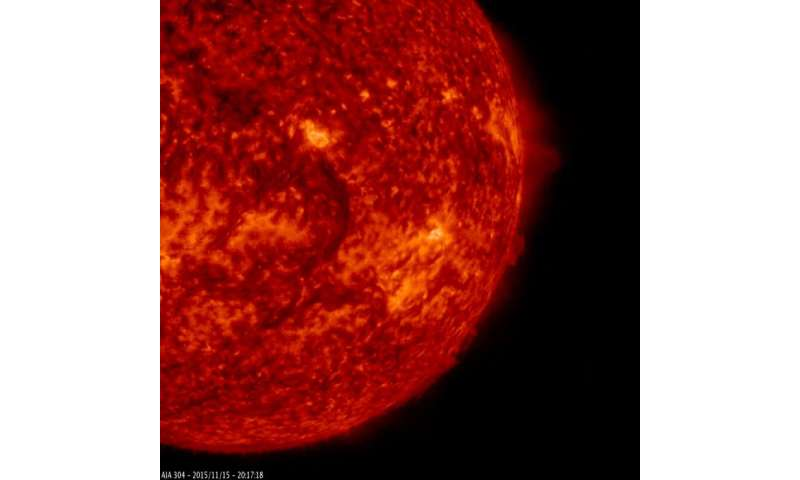 SDO sees a dark filament circle