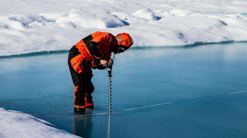 Sea ice plays a pivotal role in the Arctic methane cycle