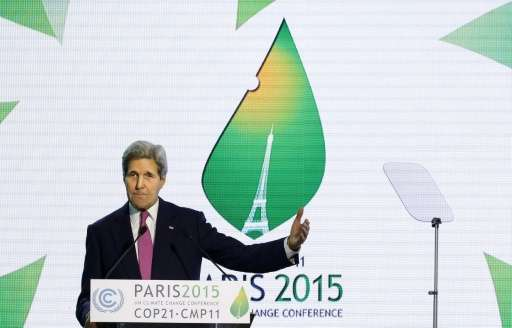 Secretary of State John Kerry announced on December 9, 2015 that the US would join the EU and 79 developing countries as part of