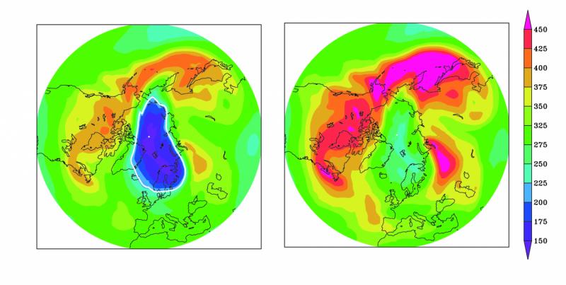 Severe ozone depletion avoided