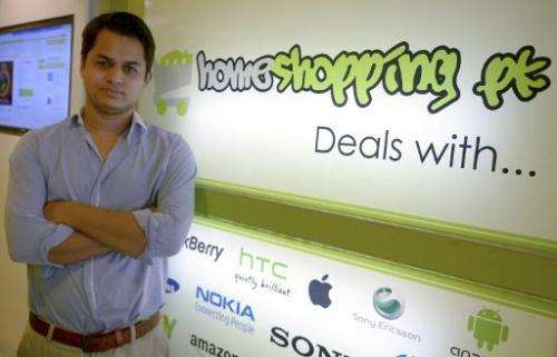 Shayaan Tahir, CEO of Homeshopping.pk, an online commerce site that today deals with 500 transactions per day and employs 65 peo