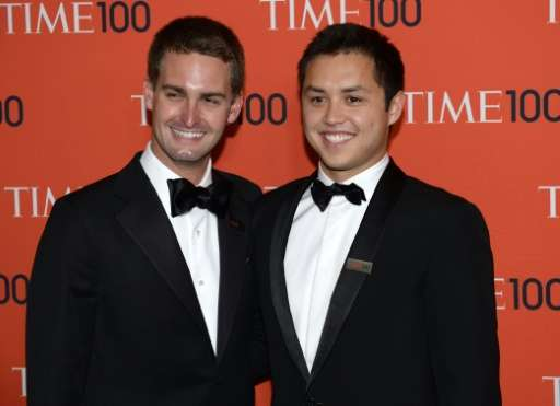 Snapchat co-founders Evan Spiegel and Bobby Murphy attends the Time 100 Gala celebrating the Time 100 issue of the Most Influent