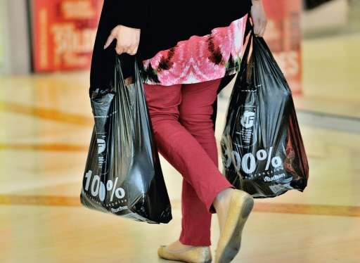 """So-called """"single-use"""" plastic shopping bags will be banned beginning in 2018 in Montreal, a move that will affect hal"""