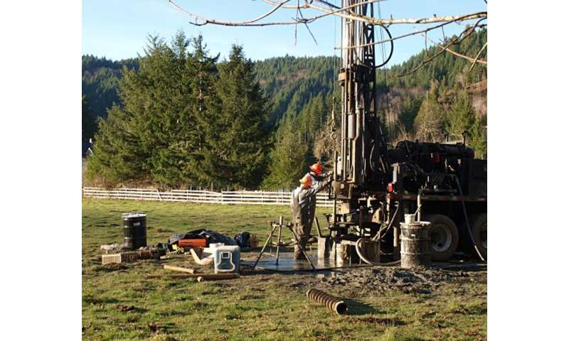 Soil pulled from deep under Oregon's unglaciated Coast Range unveils frosty past climate
