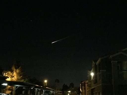 Streak of light in Western US sky sends social media abuzz
