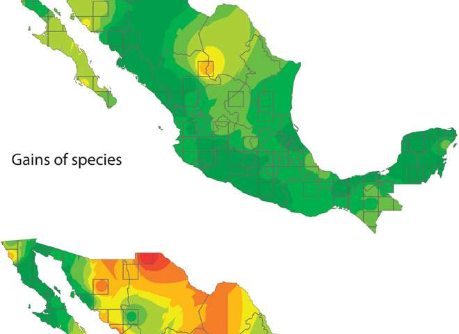 Temperature A Dominant Influence On Bird Diversity Loss In Mexico - Mexico temperature map
