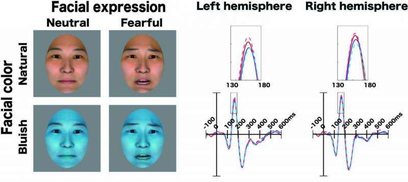 Subliminal effect of facial color on fearful faces