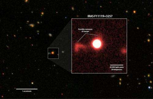 Supermassive black hole clears star-making gas from galaxy's core