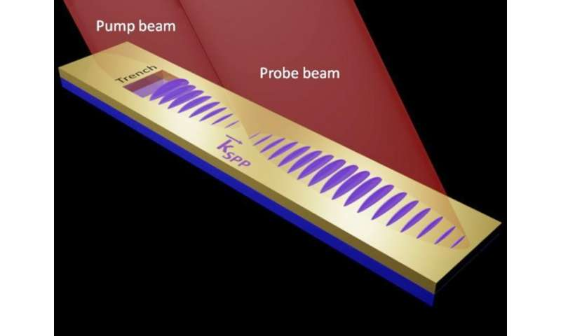 Surface plasmons move at nearly the speed of light and travel farther than expected