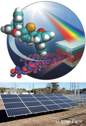 Increasing Tellurium content improves light absorption in organic solar cells