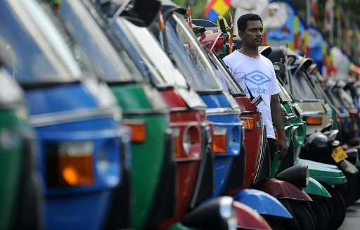 Taxi app company Uber launched Wednesday in Sri Lanka, a country dominated by three-wheeler auto rickshaws