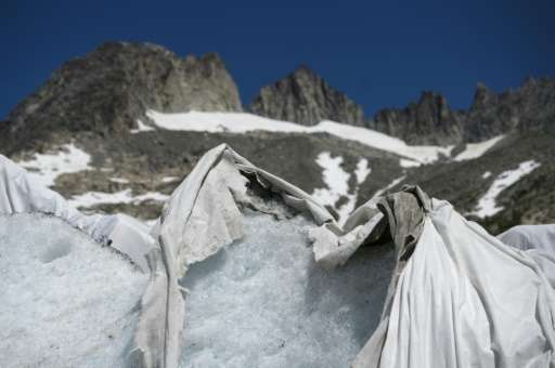 The blankets reduce the ice melt by as much as 70 percent
