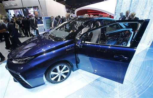 Toyota launches hydrogen-fueled sedan