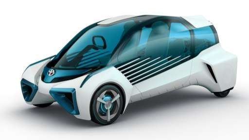 Toyota's concept fuel cell vehicle 'FCV Plus', pictured in Tokyo
