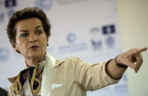 "UNFCCC chief Christiana Figueres said she was pleased that ""many"" of the tabled contributions ""also speak to long"