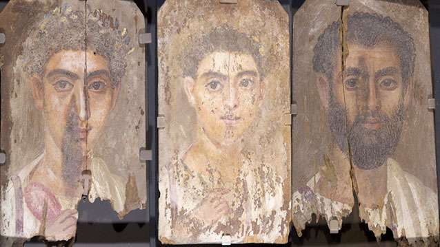 Unusual use of blue pigment found in ancient mummy portraits