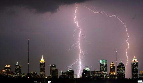 Urbanization may affect the initiation of thunderstorms