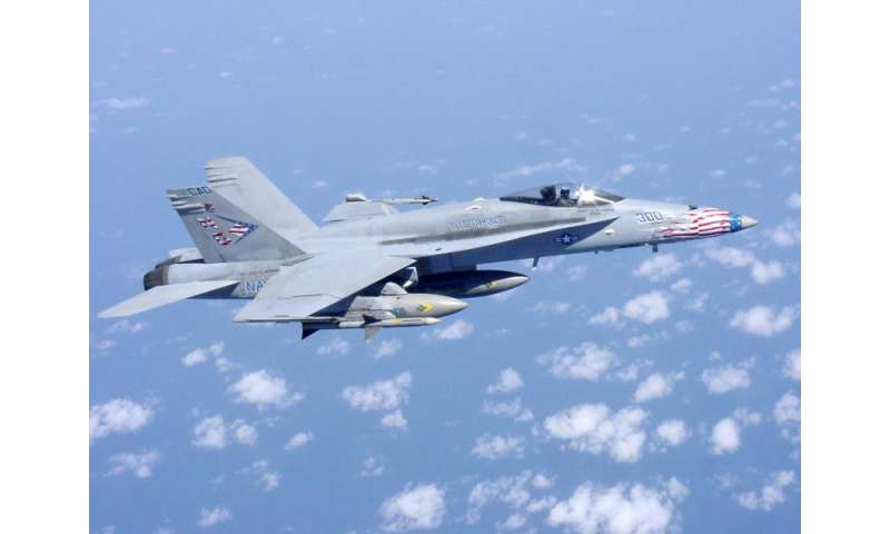 Using Composite Material Samples, NRL Scientists Predict Aspects of F/A-18 Performance