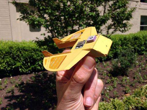 US military scientists have invented a miniature drone that fits in the palm of a hand, ready to be dropped from the sky like a