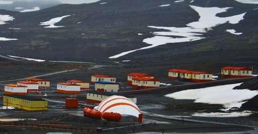 Villa las Estrellas, in Chile's Frei base in Antarctica, is pictured on March 11, 2014