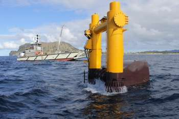 Wave energy device is watched for clean power in Hawaii