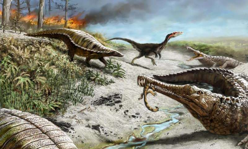 Why big dinosaurs steered clear of the tropics