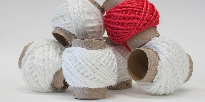 Yarn from slaughterhouse waste