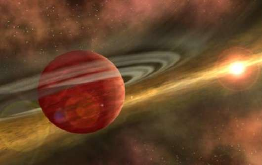 Young gas giants fly close to their suns