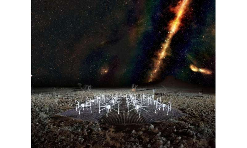 Australian desert telescope views sky in radio technicolour