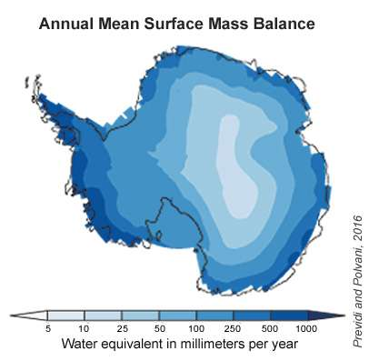 By mid-century, more Antarctic snowfall may help offset sea-level rise
