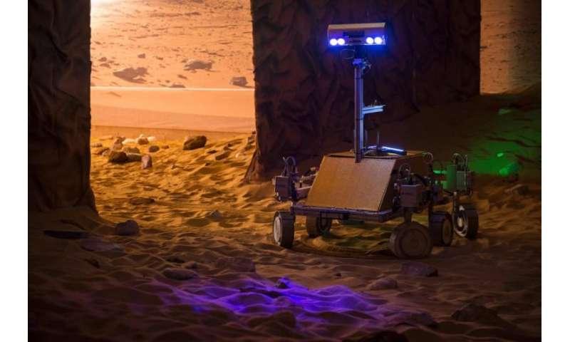 ESA astronaut Tim Peake controls British-built rover from space
