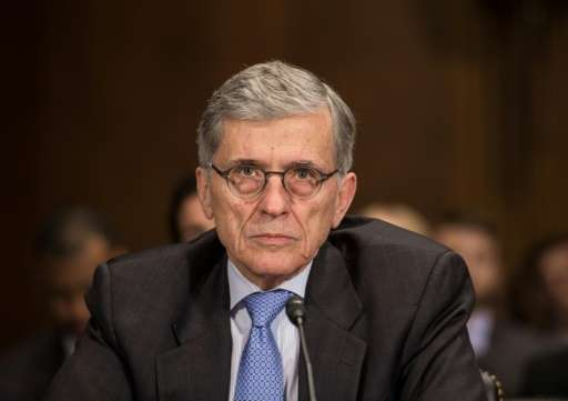 Federal Communications Commission chairman Thomas Wheeler, pictured on May 11, 2016, announced he would propose a vote next mont