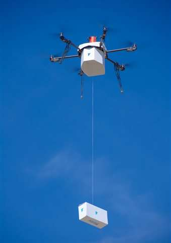For first time, drone delivers package to residential area