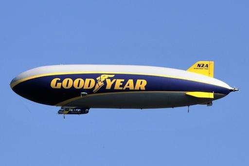 Goodyear christening 2nd airship in fleet replacing blimps