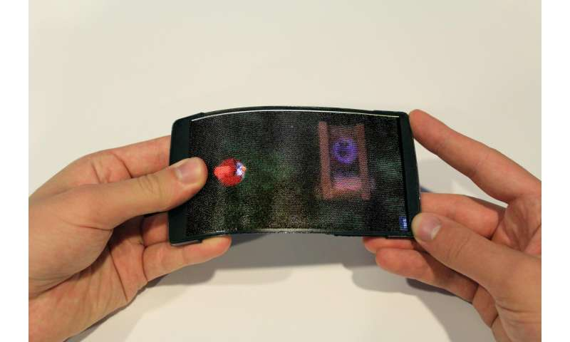 Holoflex: holographic, flexible smartphone projects princess leia into the palm of your hand
