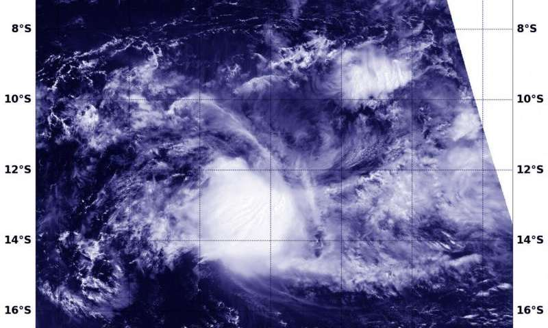 NASA-NOAA's Suomi NPP satellite sees Emeraude weakening