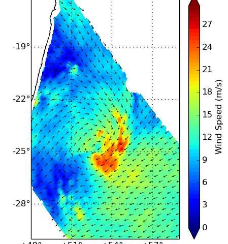 NASA's 2 eyes on Tropical Cyclone Daya