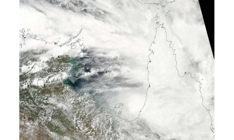 NASA's Aqua Satellite sees Tropical Cyclone 16P form in Gulf of Carpentaria