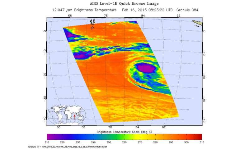NASA sees a stronger Tropical Cyclone Uriah