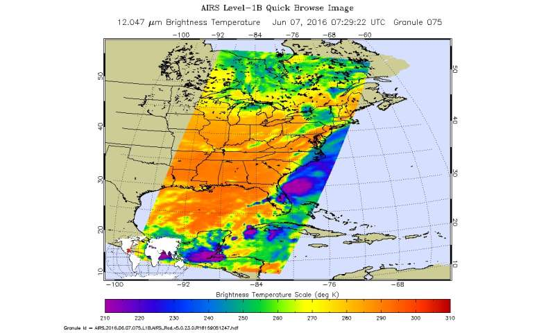 NASA sees Colin come calling on the US Southeast