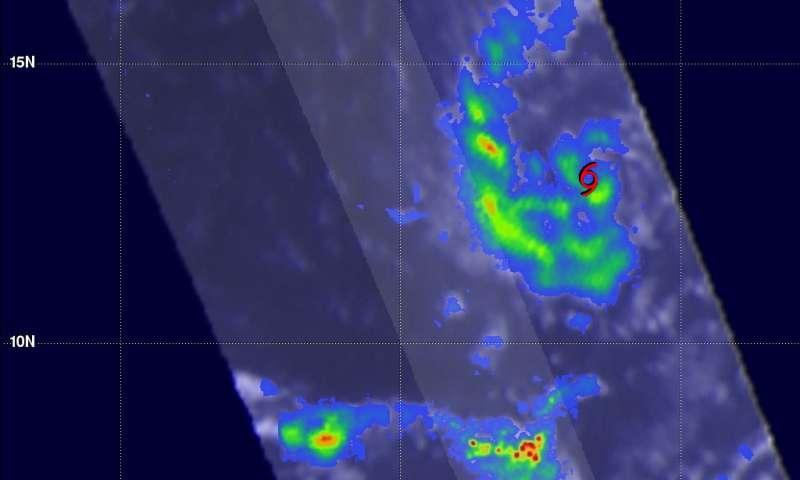 NASA's GPM observes Tropical Storm Gaston's development