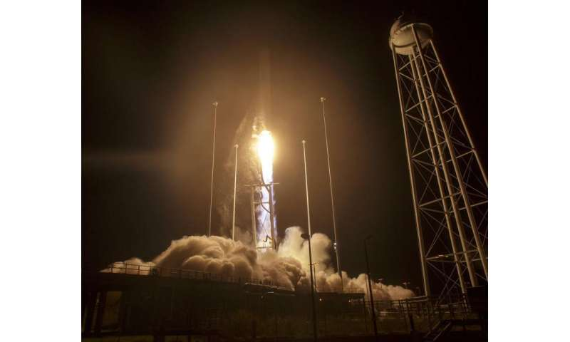 NASA space station cargo launches from Virginia on orbital ATK resupply mission