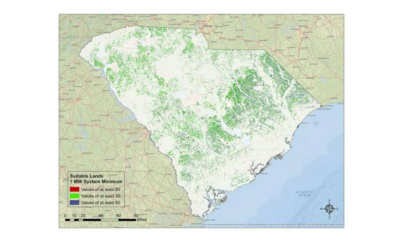 New maps show where to generate solar energy in South Carolina