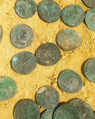 Park workers in Spain discover huge Roman coin trove