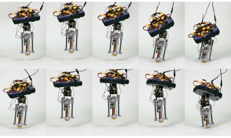 Researchers build first tetherless hopping robot
